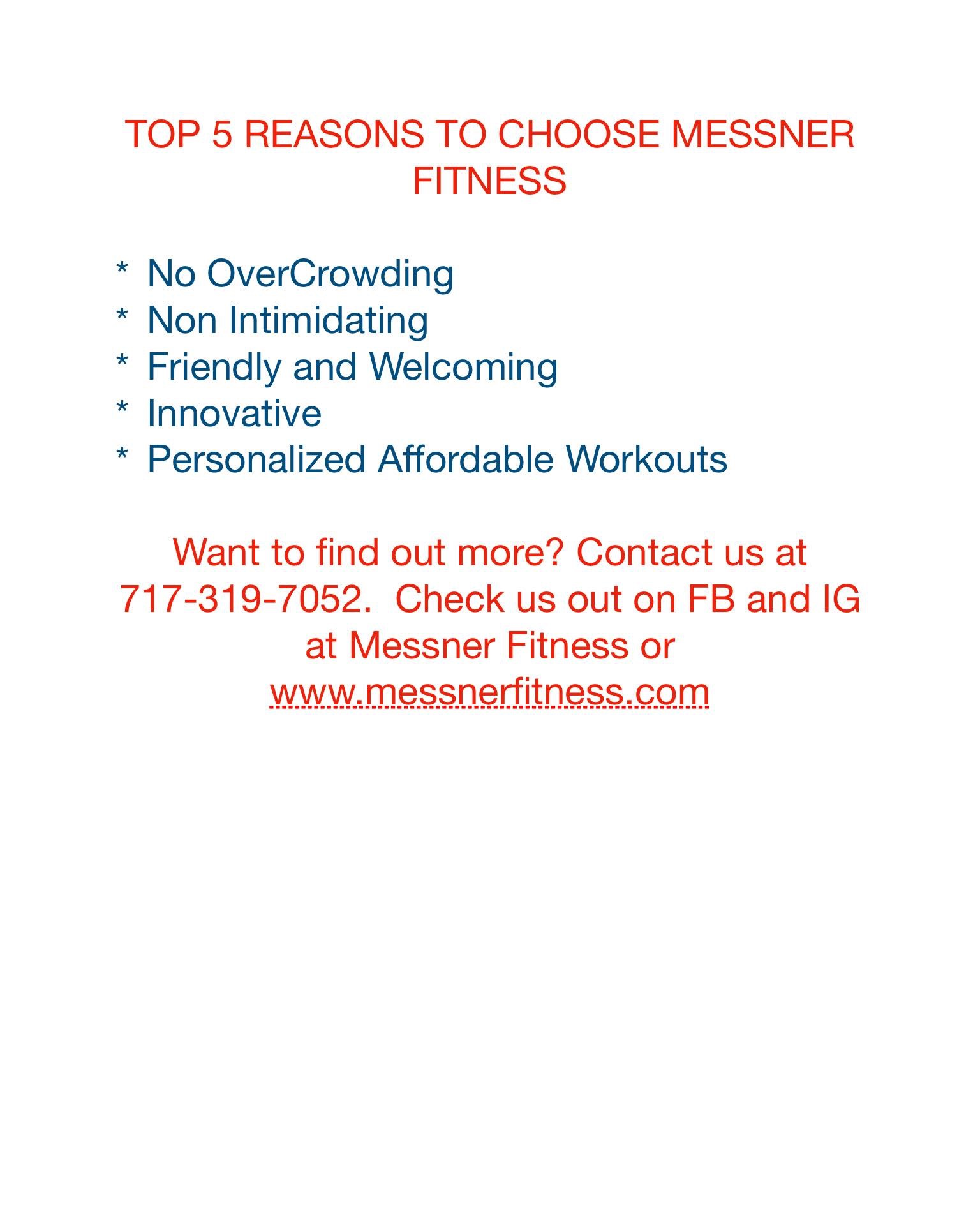 Messner Fitness LLC - Page 2 of 8 - Personal Training